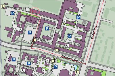 Lageplan Institut